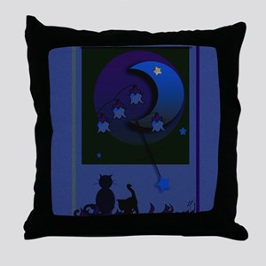 """May night""for square stuffs Throw Pillow"